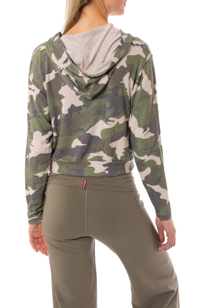 Hard Tail Forever - Camo Hoodie (HACH-02C, Rose Camo) alt view 2