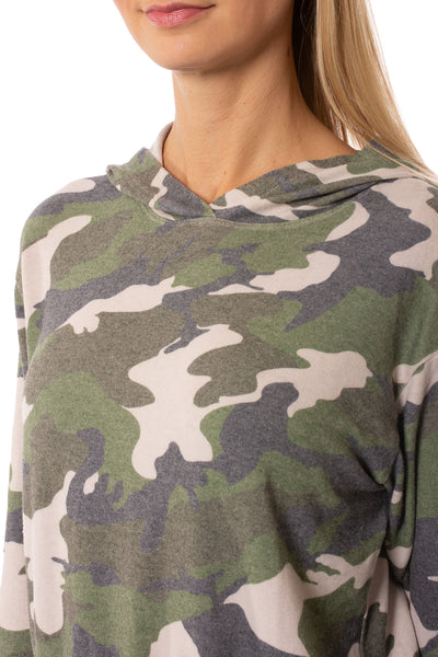 Hard Tail Forever - Camo Hoodie (HACH-02C, Rose Camo) alt view 5