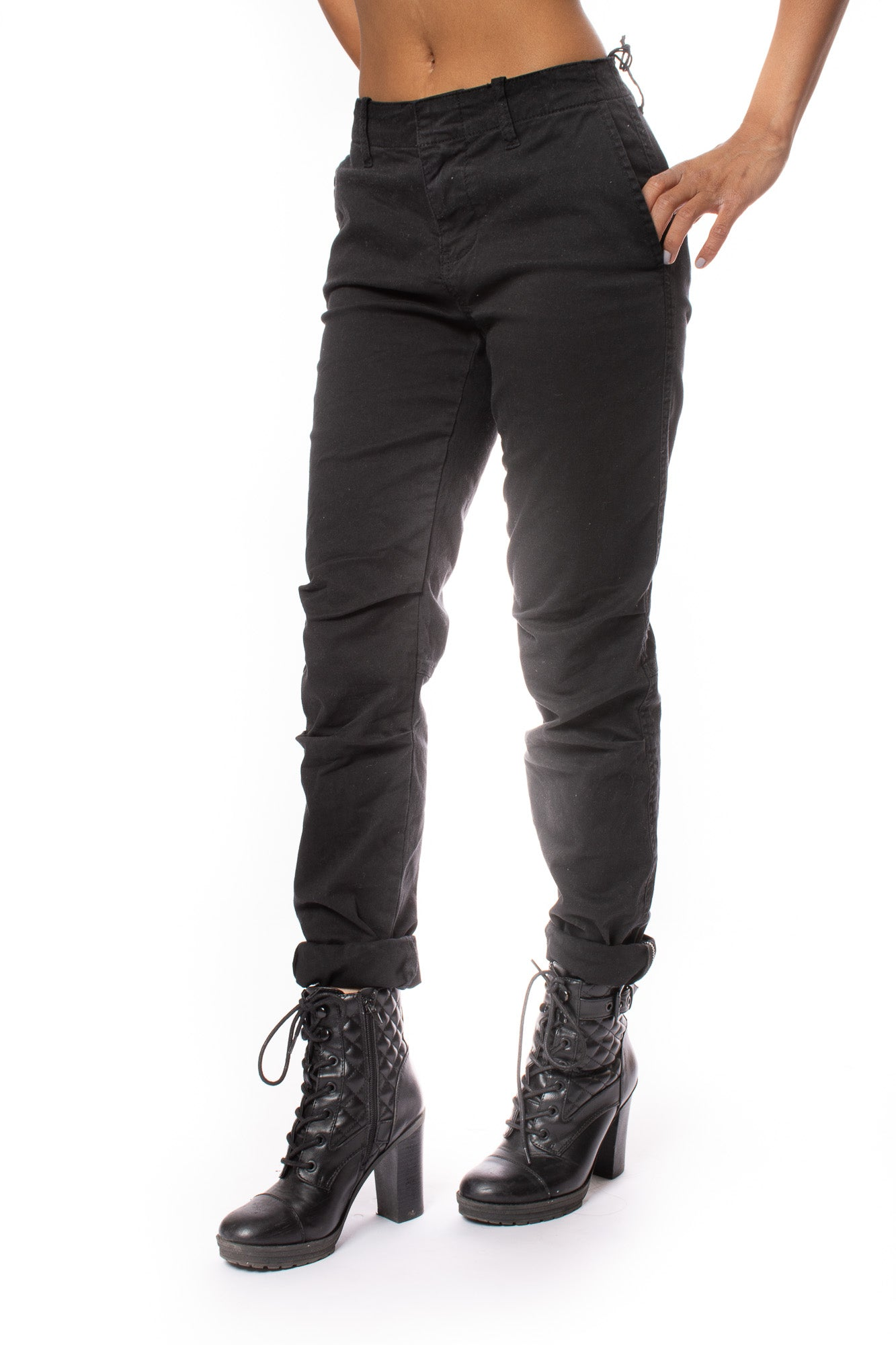 Stonefield - Sinclair Zip Ankle Pants (SW01003, Black)