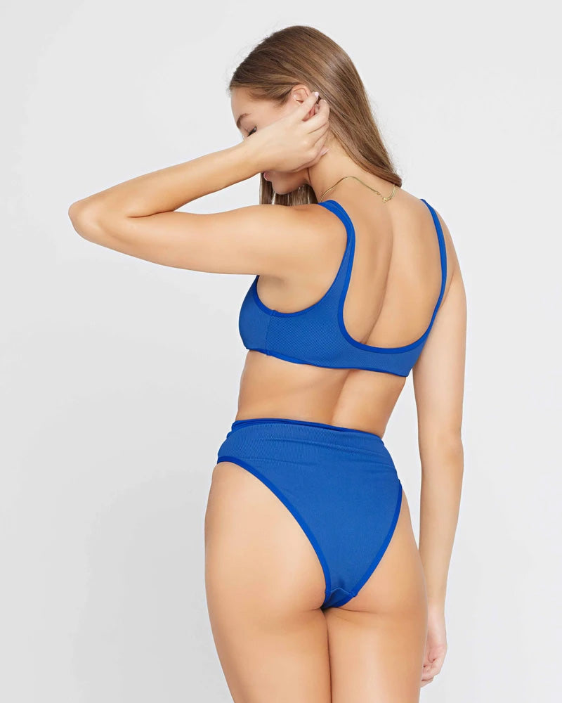 LSpace Indigo Ribbed Frenchi Bottom