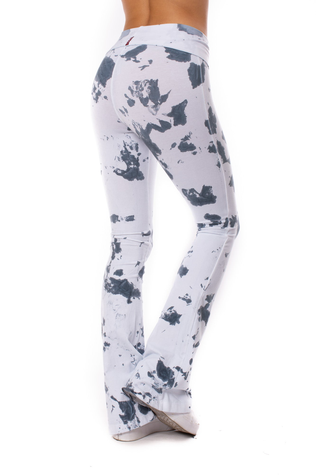 Hard Tail Forever - Contour Roll Down Boho Bell Bottom Flare Pant (W-598, Tie-Dye VCL2)