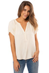 Bobi - Deep V Neck Raglan (579-33716, Natural)