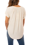 Bobi - Deep V Neck Raglan (579-33716, Natural) alt view 2