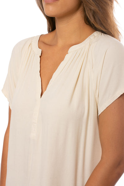 Bobi - Deep V Neck Raglan (579-33716, Natural) alt view 4