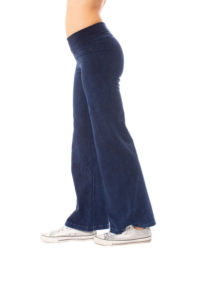 Hard Tail Forever - Wide Leg Roll Down Pants (W-326, Mineral Wash MW8) alt view 1
