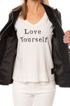 Love Token - Pleather Jacket W/Insert Zip Hoodie (LT100-34, Black) alt view 5