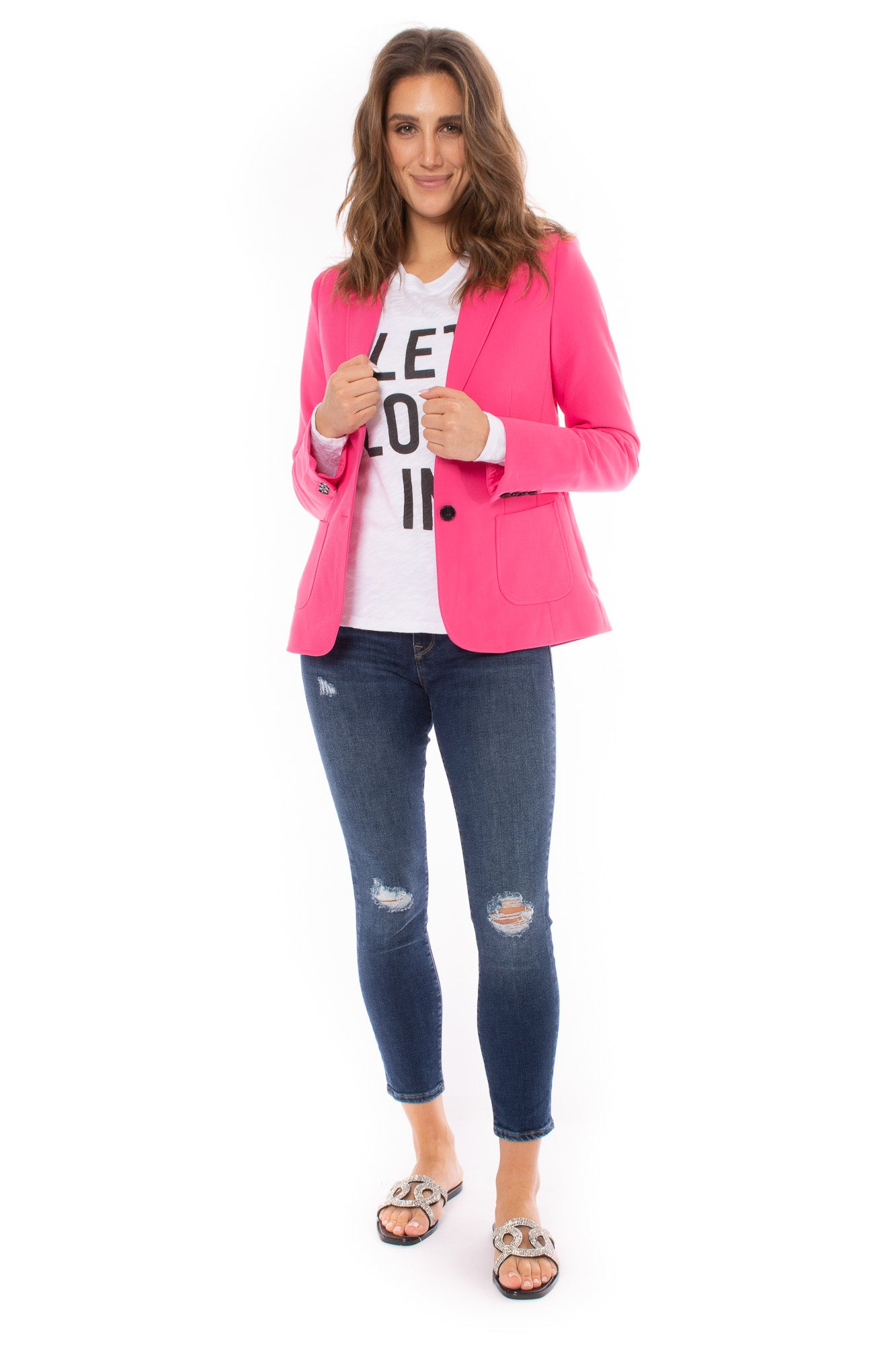 Love Token - Hot Pink Blazer (lt100-45, Hot Pink)