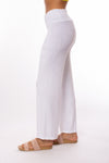 Hard Tail Forever - Smocked Waist Velure Pant (PANE-25, White) alt view 1