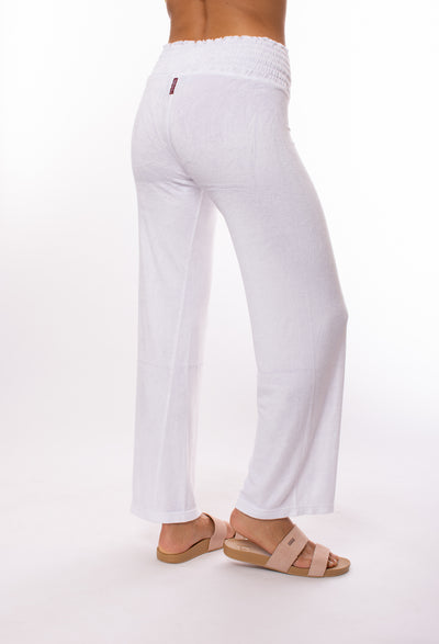 Hard Tail Forever - Smocked Waist Velure Pant (PANE-25, White) alt view 2