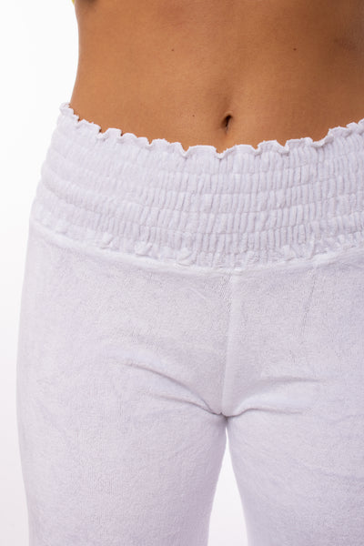 Hard Tail Forever - Smocked Waist Velure Pant (PANE-25, White) alt view 4