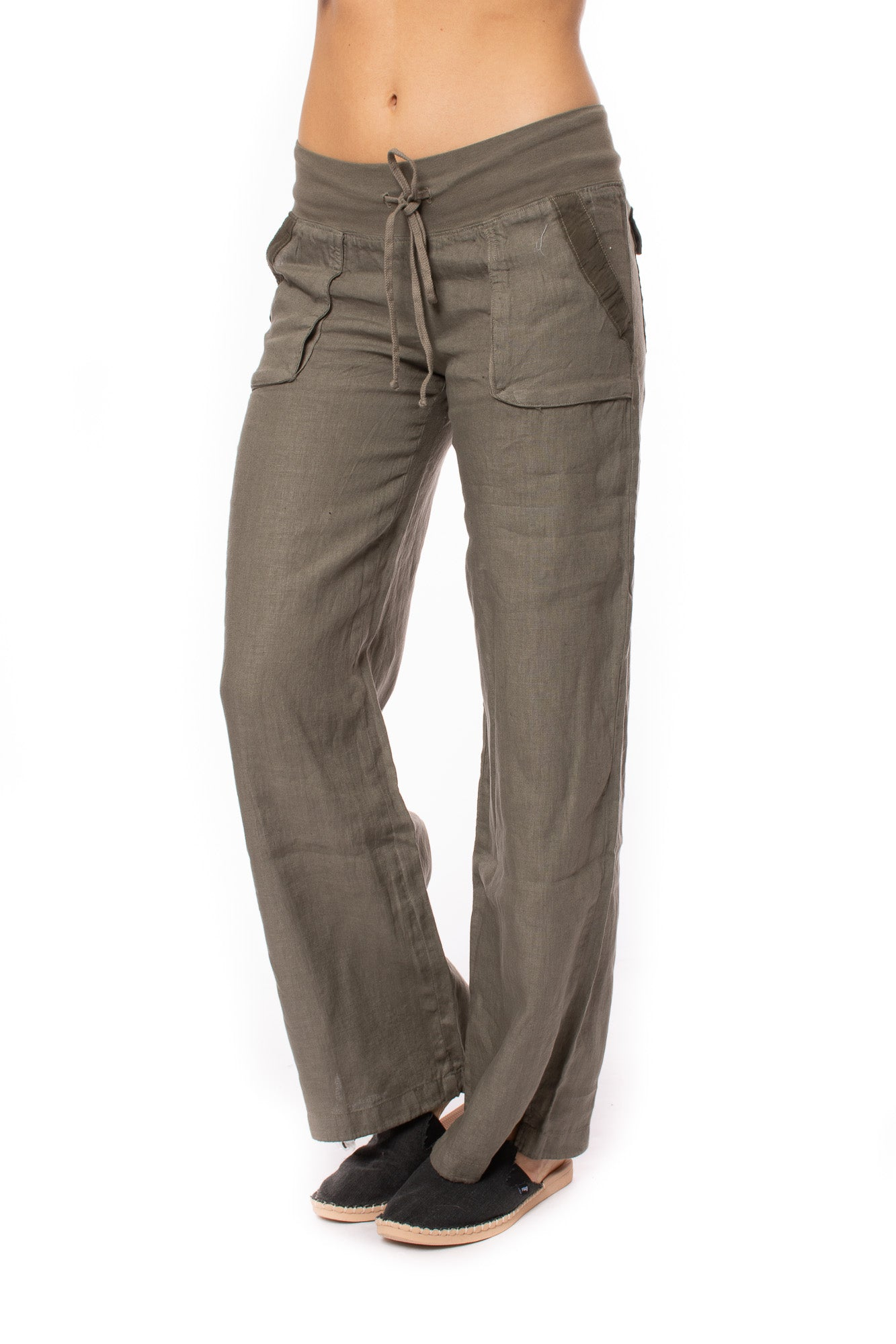 Hard Tail Forever - Four Pocket Slouchy Drawstring Cargo Pants W/Drawstring Hems (L-208, Gravel)