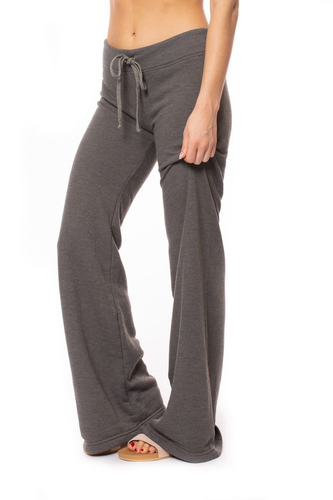 Hard Tail Forever - Wide Leg Drawstring Pull On Pants (SHE-06, Dark Olive Grey)