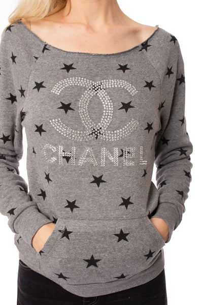 Raindear Crew Neck Sweater (Style 377, Brown & Black) by Wooden Chips alt view 3