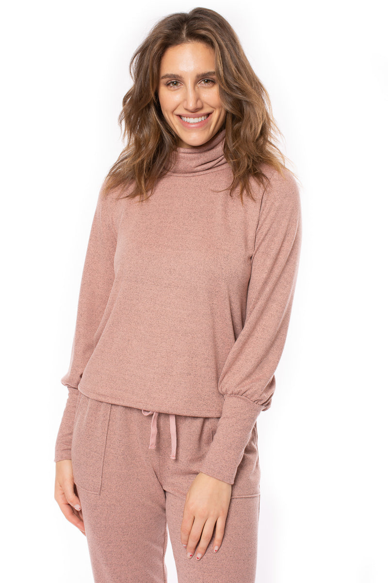 LA Made - Alina Turtle Neck (MPRH1003, Heathered Peach/Beige)