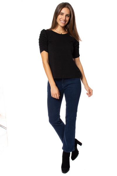 Sanctuary - Ruche Me Blouse (CT2996K60, Black)