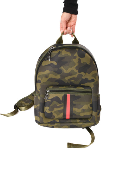 Haute Shore - Alex Backpack (alex, Green Camo w/Red & Black Sripe) alt view 1