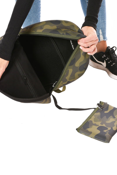 Haute Shore - Alex Backpack (alex, Green Camo w/Red & Black Sripe) alt view 3