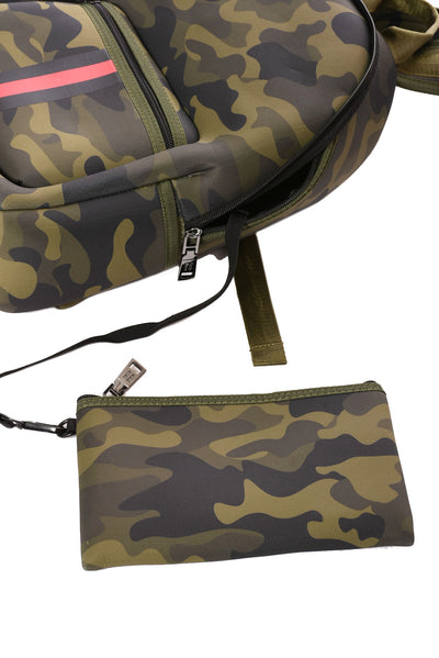 Haute Shore - Alex Backpack (alex, Green Camo w/Red & Black Sripe) alt view 4