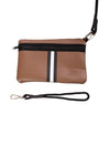 Haute Shore - Greyson Milan Neoprene Tote Bag w/Zipper Wristlet Inside (Milan, Saddle Brown w/Black & White Stripe) alt view 4