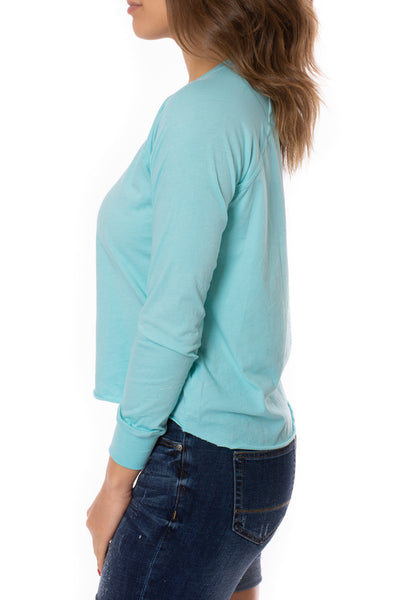 LA Made - York Tee (51273N, Light Turquoise) alt view 2
