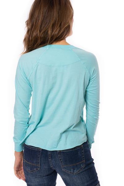 LA Made - York Tee (51273N, Light Turquoise) alt view 3