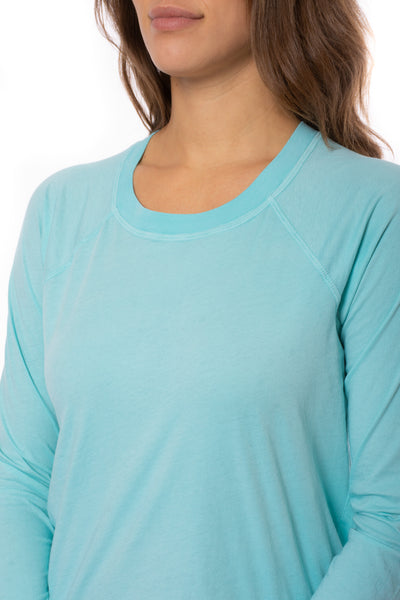 LA Made - York Tee (51273N, Light Turquoise) alt view 6