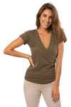 Bobi - Side Shired Surplice (53A-60043, Olive Green)