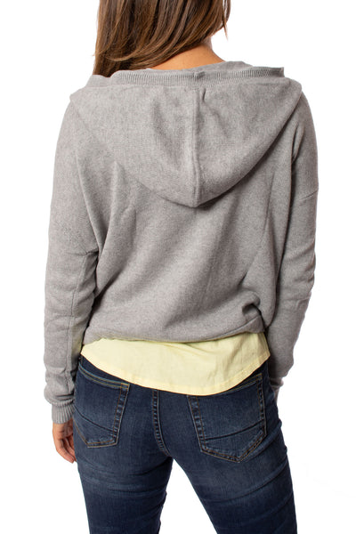 Zaket & Plover - Zip Up Hoodie (ZW2096U, Light Grey w/Stars) alt view 2