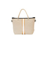 Haute Shore - Ryan Femme Mini Tote (FEMME, Tan Canvas w/White/Bronze Stripe)