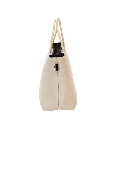 Haute Shore - Ryan Femme Mini Tote (FEMME, Tan Canvas w/White/Bronze Stripe) alt view 1