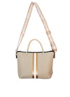 Haute Shore - Ryan Femme Mini Tote (FEMME, Tan Canvas w/White/Bronze Stripe) alt view 3