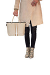 Haute Shore - Ryan Femme Mini Tote (FEMME, Tan Canvas w/White/Bronze Stripe) alt view 4