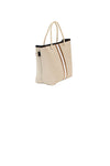 Haute Shore - Ryan Femme Mini Tote (FEMME, Tan Canvas w/White/Bronze Stripe) alt view 5