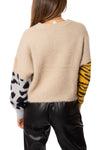 Elan - Fuzzy Long Sleeve Sweater (SWP10505, Tan) alt view 2