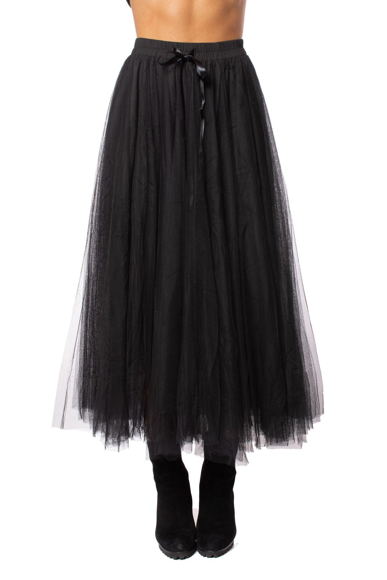 Elan - Tulle Skirt (TU4074, Black)