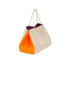 Haute Shore - Greyson Capri Neoprene Tote Bag w/Zipper Wristlet Inside (CAPRI, Tan Canvas w/Orange Sides) alt view 1