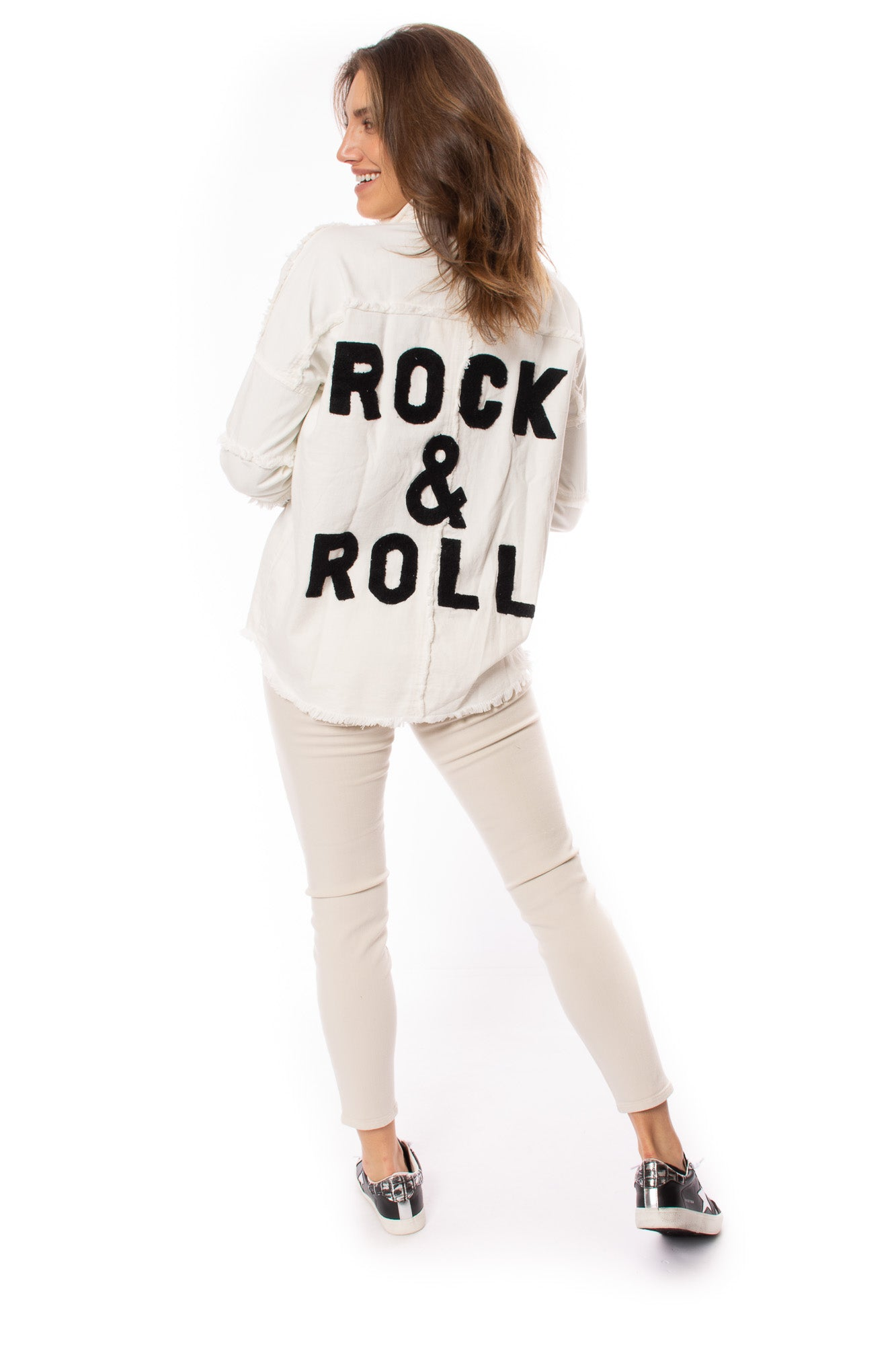 "Elan - One Size Fits All ""Rock & Roll"" Jacket (DE8121, White)"