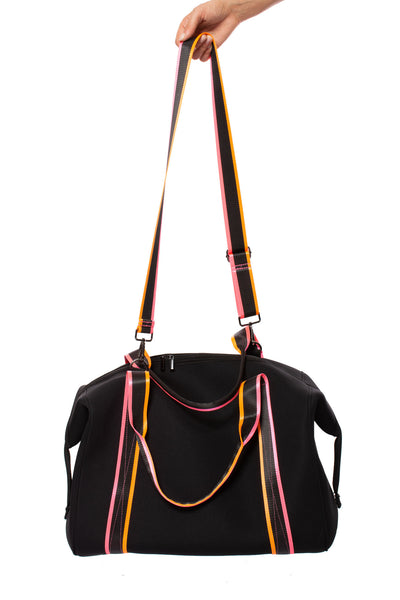 Haute Shore - Weekender Morgan Tour (WEEKEND, Black w/Pink & Orange Straps)