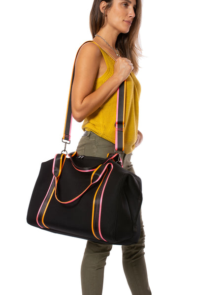Haute Shore - Weekender Morgan Tour (WEEKEND, Black w/Pink & Orange Straps) alt view 1