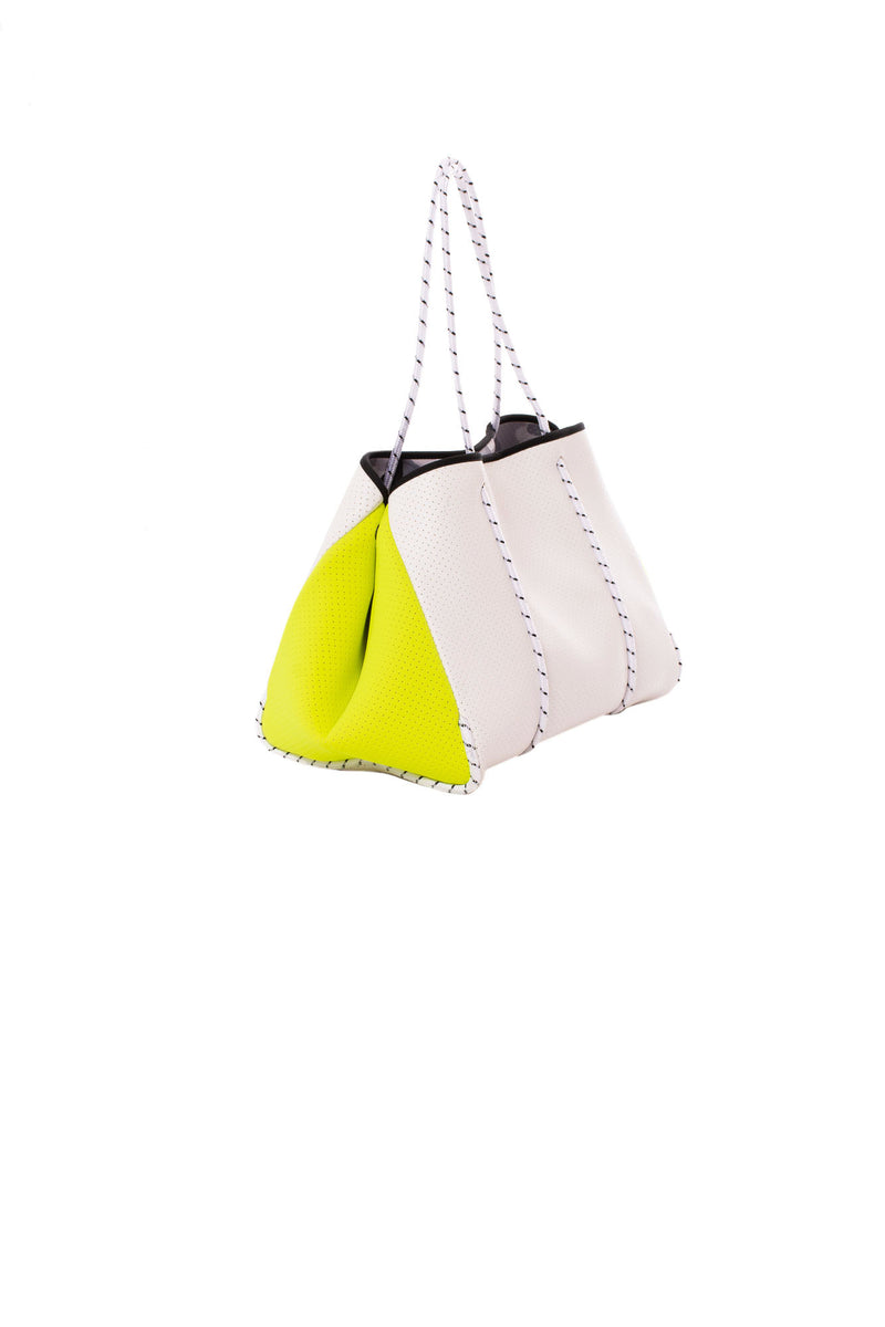 Haute Shore - Greyson Vision Tote Bag with/Tethered Removable Wristlet (Vision, Neon Yellow/Green)