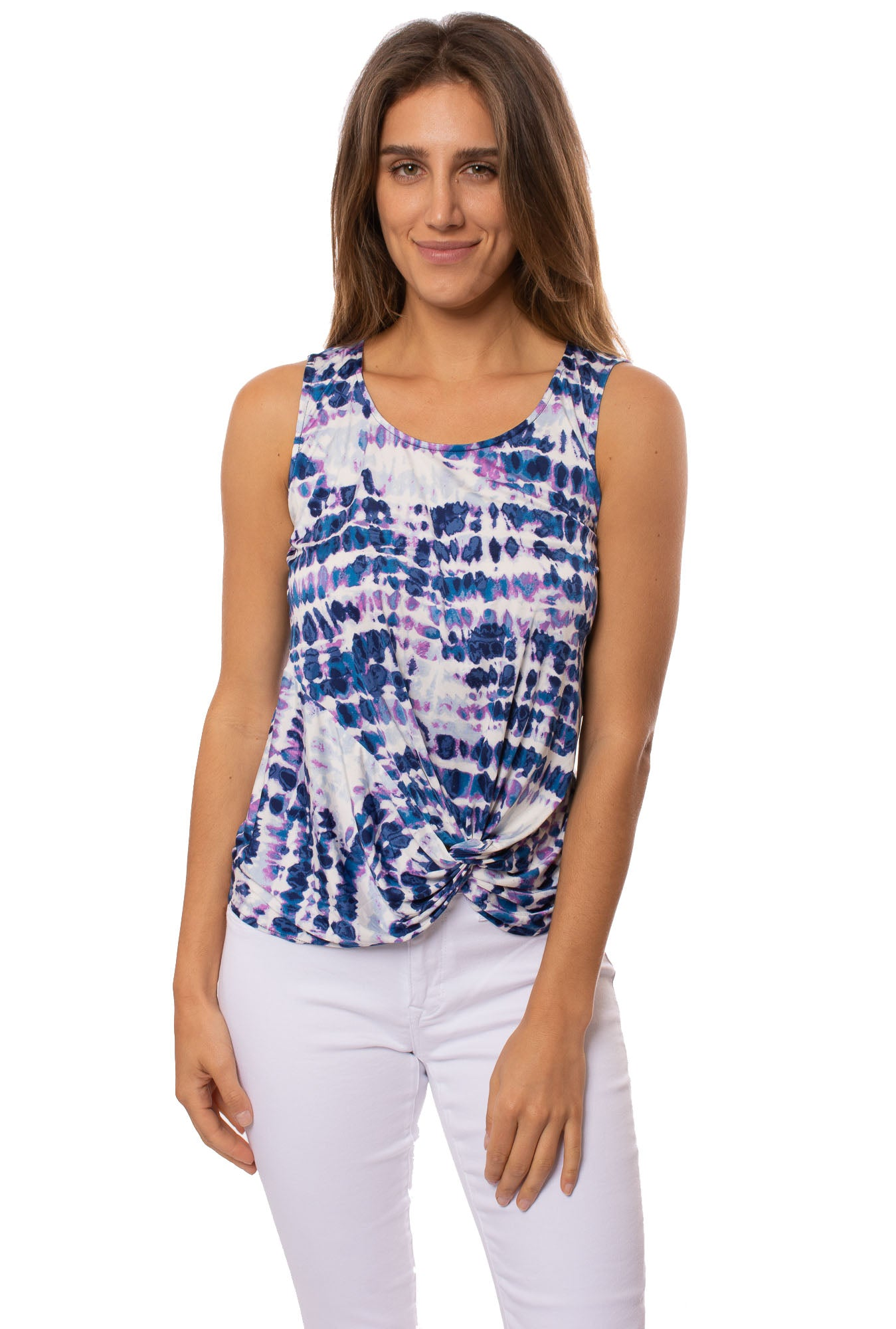 Hippie Guilt - Patricia Tie-Dye Top (HT3010, Blue/Purple/White Tie-Dye)
