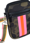 Haute Shore - Casey Showoff Neoprene Cell Phone Case (Casey, Camo Green w/Orange & Pink Stripe) alt view 2