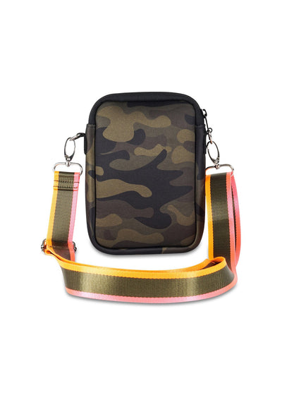 Haute Shore - Casey Showoff Neoprene Cell Phone Case (Casey, Camo Green w/Orange & Pink Stripe) alt view 3