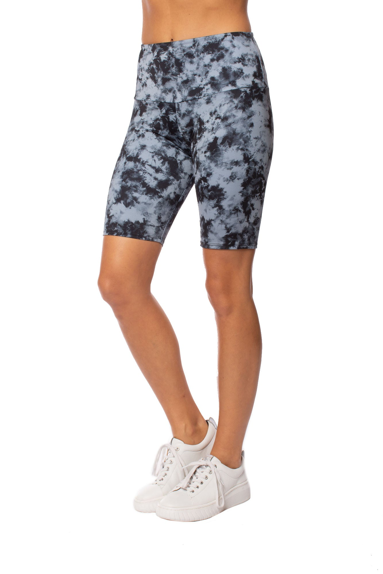 Onzie - High Rise Bike Short (2225, Acid Wash Blue)