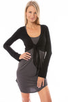 Hard Tail Forever - Crop Bell Sleeve (SL-12, Black)