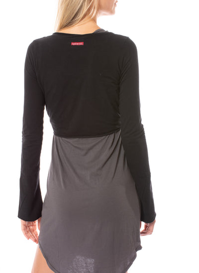 Hard Tail Forever - Crop Bell Sleeve (SL-12, Black) alt view 2