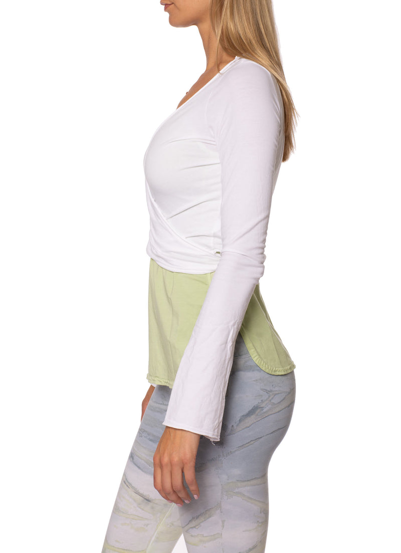 Hard Tail Forever - Crop Bell Sleeve (SL-12, White)
