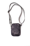 Haute Shore - Casey Elite Cell Phone Crossbody (Casey, Black Camo w/Black & White Stripe) alt view 2