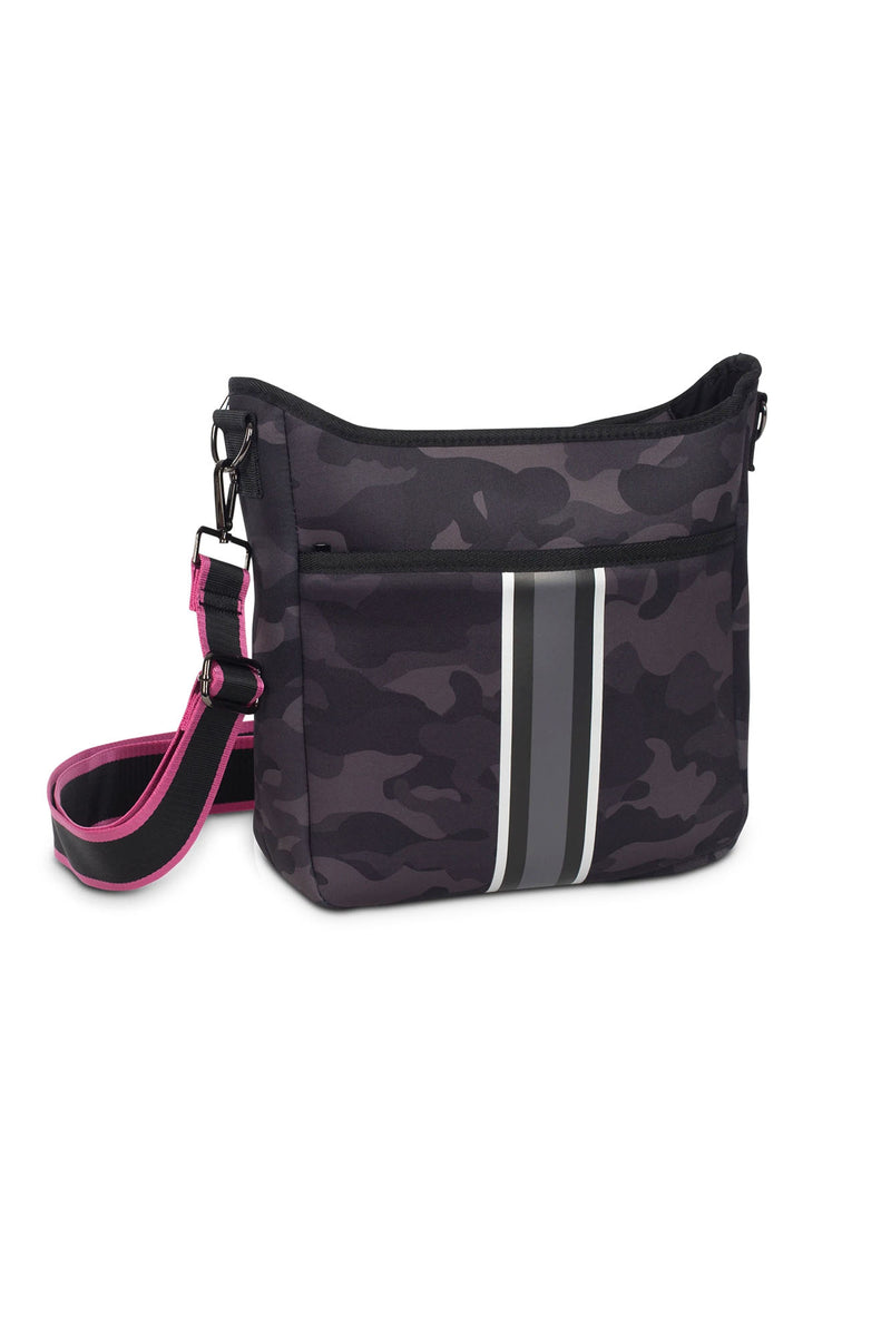 Haute Shore - Blake Elite Cross Body (Black, Black Camo w/Black & White Stripes)