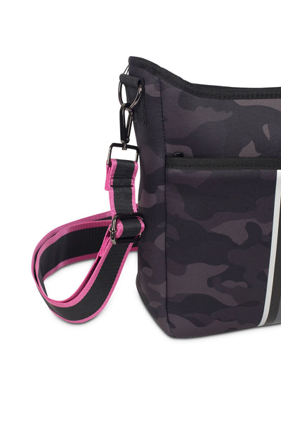 Haute Shore - Blake Elite Cross Body (Black, Black Camo w/Black & White Stripes) alt view 2